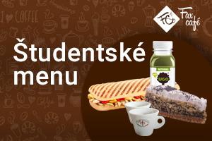 FaxCafé – študentské menu